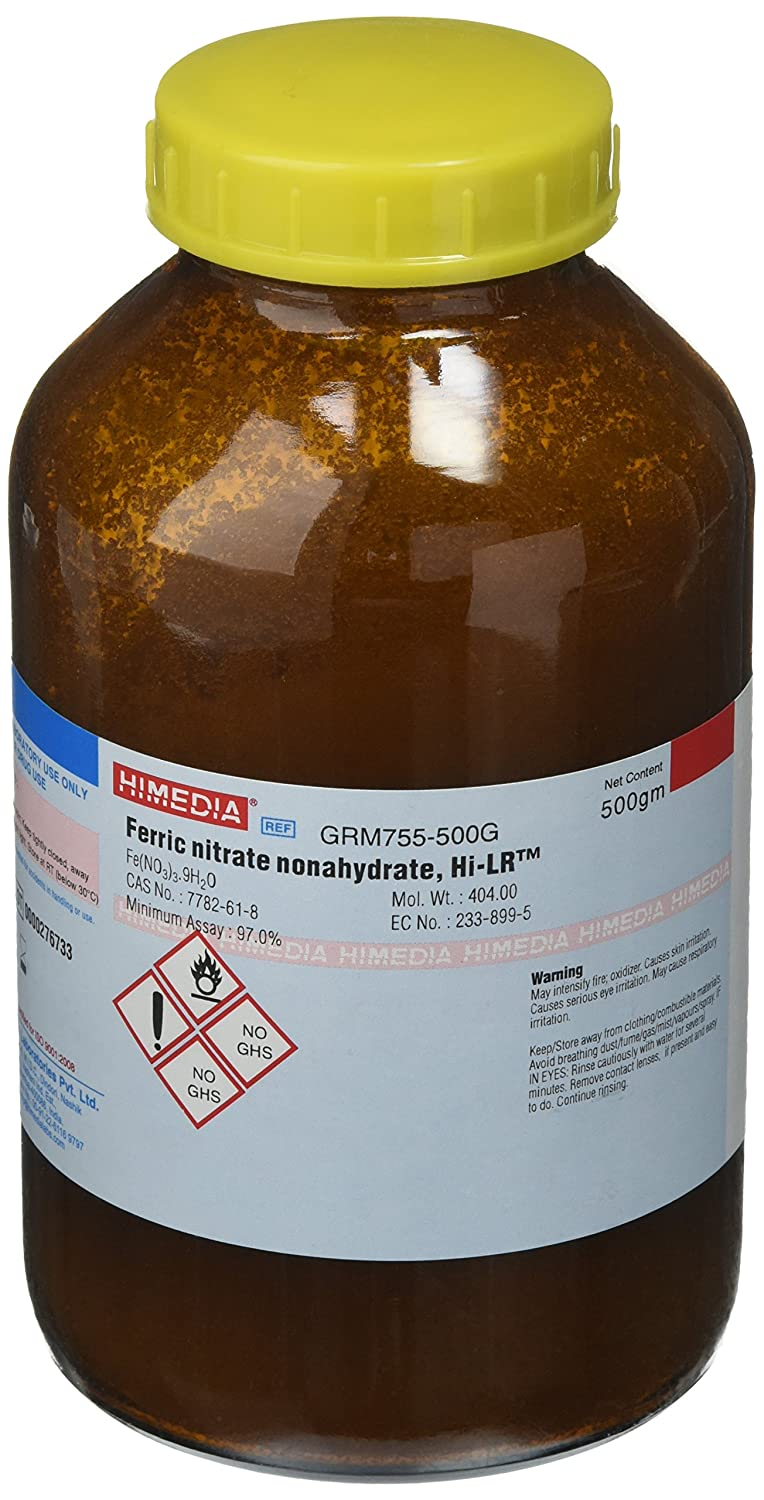 HiMedia GRM755-500G Ferric Nitrate Max 68% Bargain OFF Nonahydrate Pure 500 Extra