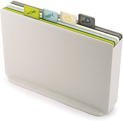 JOSEPH JOSEPH JJ60133 Index Chopping Board Chopping Board, White case with Multi-Coloured Boards