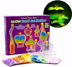 Kreative Kids Children's Glow in the Dark Bottle Sand Art Make Your Own Craft Activity Kit