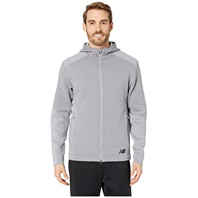 New Balance NB Heatloft Full Zip Hoodie (Athletic Grey) Men