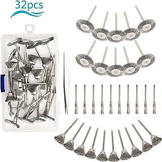 Conjunto de cepillo de alambre de acero,KATOOM,30pcs,Cepillo de Alambre Juego de Acero para pulido y amolado,Juego de Cepillos de Alambre de Acero.