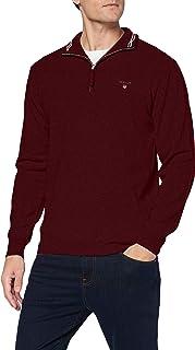 GANT Superfine Lambswool Half Zip Sweater Homme