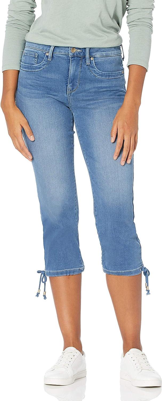NYDJ Women's Misses Capri with 2021 new Jeans Hem Max 55% OFF Drawcord