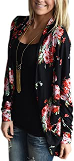 Best Womens Boho Irregular Long Sleeve Wrap Kimono Cardigans Casual Coverup Coat Tops Outwear S-3XL Review