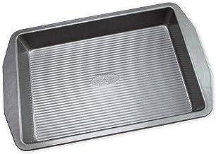 USA PAN 1110RC-3-ABC American Bakeware Classics 9 x 13-Inch Rectangular Lasagna, Cake and Brownie Pan, Aluminized Steel