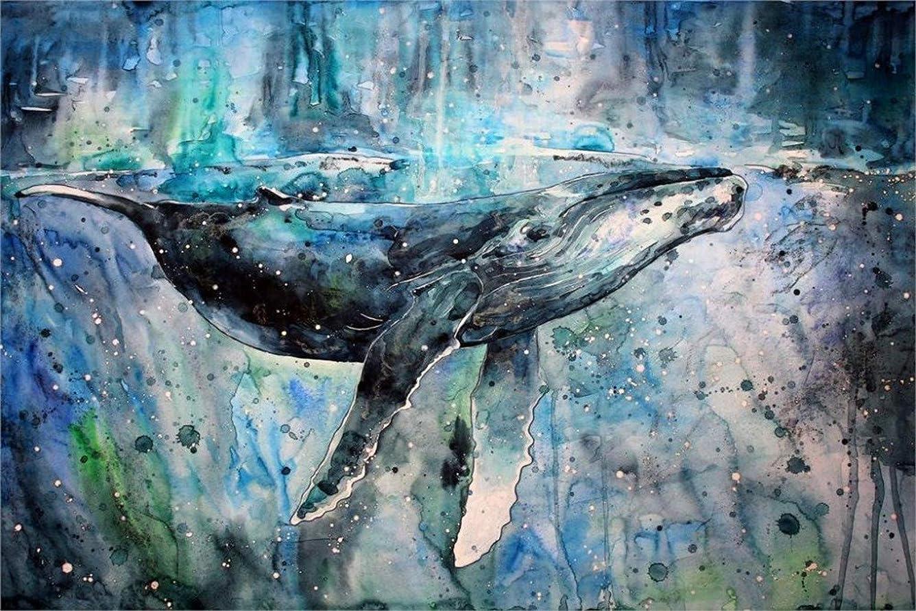 ギャラントリー振るう疑わしいクジラのアートワークの水彩ペイントスプラッター whales artwork watercolor paint splatter Painting silk fabric poster シルクファブリックポスター 50cm x 33cm