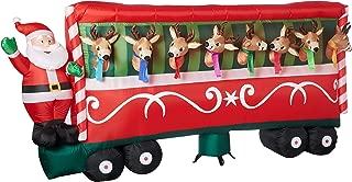 gemmy santa feeding reindeer