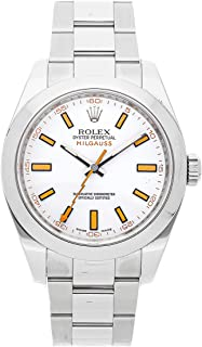 Rolex Milgauss Mechanical (Automatic) White Dial Mens Watch 116400 (Certified Pre-Owned)