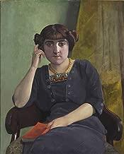 Odsan Gallery Portrait de jeune femme en robe de velour - by Felix Vallotton - Canvas Prints 16