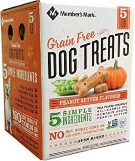 An Item of Member's Mark Grain Free Dog Treats, Peanut Butter Flavored (5 lb.) - Pack of 1