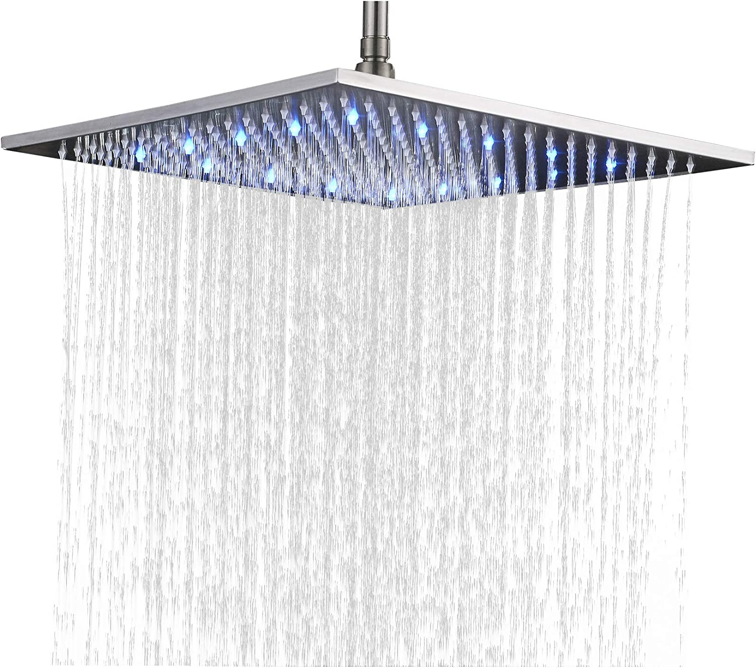 55% OFF Rozin Bathroom Replacement LED Changing Rai 16-inch Square Color Be super welcome