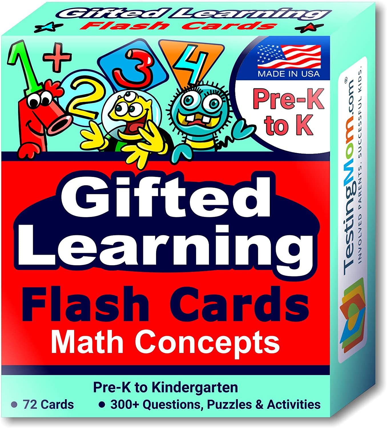 TestingMom.com Gifted Super Direct sale of manufacturer Special SALE held Learning Flash Concepts Cards – Math