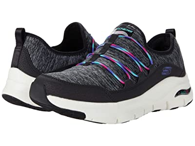 SKECHERS Arch Fit Rainbow View (Black Multi) Women