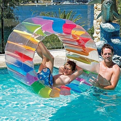 SUMME Kinder Bunte Aufblasbare Wasser Rad Roller Float 36 inch Riesen Rolle Ball Für Jungen und mädchen Schwimmen Pool Spielzeug Gras Spielzeug