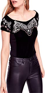 Free People Women's Party Train Embroidered Top