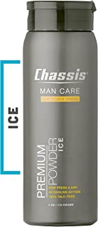 Chassis Premium ICE Body Powder for Men - With Extra Cooling Sensation and Fresh Scent