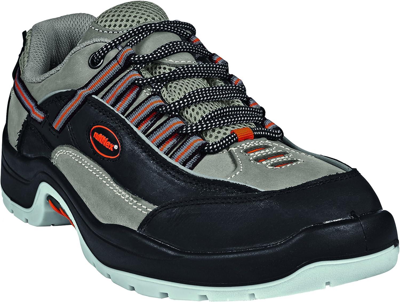 RuNNex 5202-49 Safety shoes, Team Star, S2, Size 49, Black Grey orange - EN safety certified