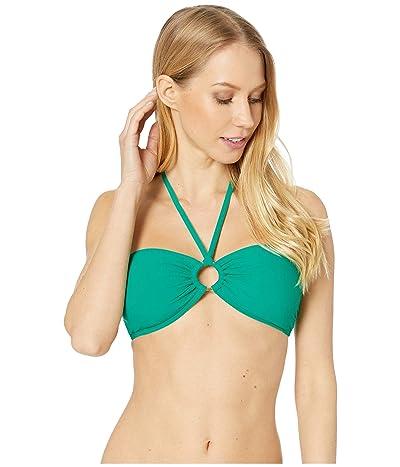 Kate Spade New York Solids Bandeau Halter Bikini Top (Jade) Women