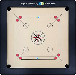 ATN Carrom Board - 35 x 35 Inch Acrylic Playing Surface - Highly smooth running. Coins, Striker And Powder Inclusive - Mad...