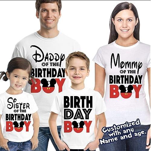 f341c9088 Matching Disney Family Birthday Boy Tshirts - Mickey Minnie Mouse Birthday  Girl - Disney Inspired -