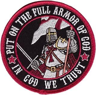 Put On The Full Armor in God We Trust Milspec Morale Hook Patch