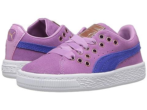 PUMA Kids' Suede XL Lace VR Sneaker (Pink)