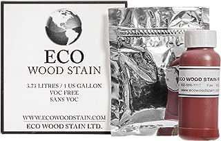 Eco Wood Treatment 1 US Gallon, Long Lasting, Red, Semi-Transparent (1 Pack)