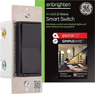 GE Enbrighten Z-Wave Plus Smart Light Switch with...