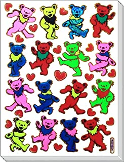 BearDance - 10 Sheets Dancing Bear Scrapbook Stickers, Animal Scrapbook Stickers - Reflective Stickers - Animal Stickers for Kids - Size 4 X 5.25 Inch./sheet