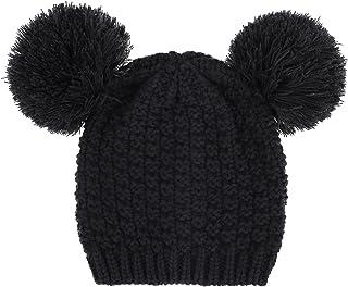 ThunderCloud Women Knit Pompom Mickey Ears Warm Winter Beanie Hat