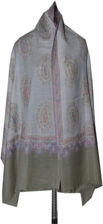 Wool Kani indian shawl, wool floral pattern shawl, woven shawl
