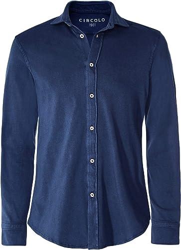 Circolo 1901 Hommes Chemise en Coton Jersey Teint vêteHommest Marine
