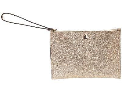 Kate Spade New York Burgess Court Small Wristlet (Pale Gold) Handbags