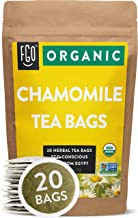 Organic Chamomile Tea Bags   20 Tea Bags   Eco-Conscious Tea Bags in Kraft Bag   Raw from Egypt   by FGO