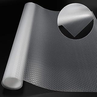 Non-Slip Mat EVA Transparent Non-Adhesive Waterproof Mat Washable-Cupboard Cabinet Shelf Drawer Liner Non-Slip Mat- to Use...