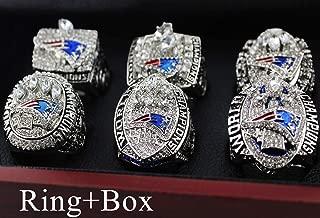 OMG-LIFE New England Patriots Super Bowl LIII Ring, 2018-2019 Replica Championship Rings Size 9-13