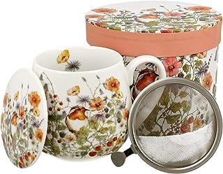 DUO Kaffeetasse Safa 460ml Kaffeebecher Teetasse Blumenmotiv Kaffee-Tasse