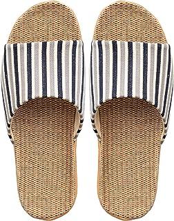YAOLUU Summer Slippers Zapatilla de Lino de Punta Abierta Unisex, Zapatillas for Mujer, Zapatos de Interior silves for Muj...