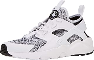 Nike Men's Air Huarache Black/Black/White Running Shoe 11.5