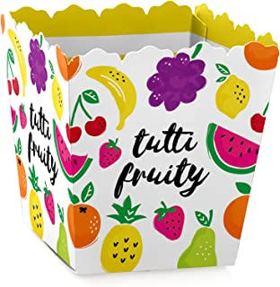 Tutti Fruity - Party Mini Favor Boxes - Frutti Summer Baby Shower or Birthday Party Treat Candy Boxes - Set of 12