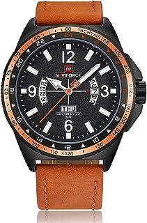 e87dd97cf NAVIFORCE Watches Men Luxury Waterproof Sport Military Watches Men's  Leather Quartz Watch