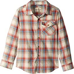 Long Sleeve Plaid Shirt (Little Kids/Big Kids)