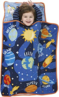 Baby Boom Explore Planets & Outer Space - Kids Nap Mat Set – Includes Pillow and Fleece Blanket – Great for Kids Sleeping at Daycare, Preschool, or Kindergarten - Fits Napping Toddlers or Children