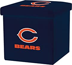 Franklin Sports NFL Team Licensed Storage Ottoman with Detachable Lid 14 x 14 x 14 - Inch