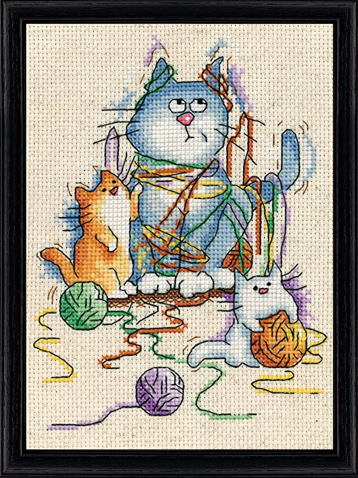 Design Works Crafts All All Strung Out Counted Cross Stitch Kit, 5 by 7