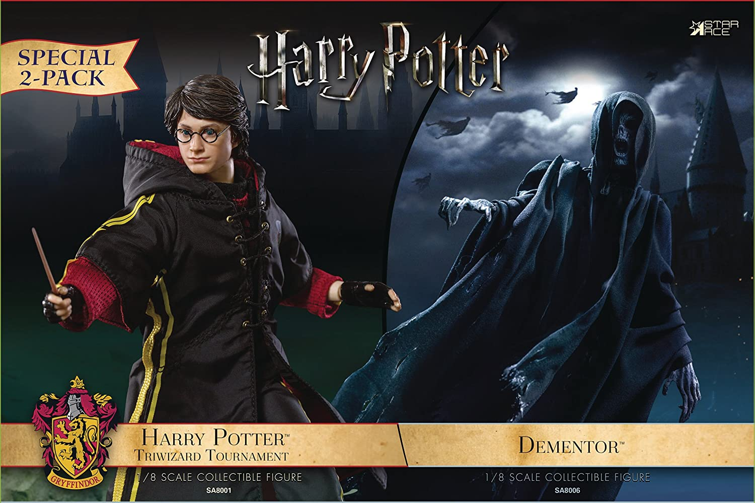 Star Ace Toys Potter and The Goblet of Fire  Dementor & Triwizard Tournament Harry 1 8 Scale Action Figure (2 Pack)