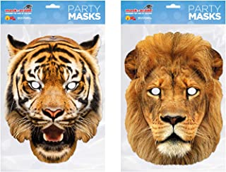 Easy To Wear And Fun. 12 x Assorted EVA Foam Farmyard Animal Masks For Parties **Free UK Post** Cat Fancy Dress Dog Horse Pig Birthday Party Bag Fillers Rabbit Halloween Cow