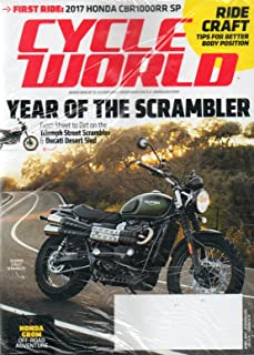 Cycle World Magazine 2017 BRAND NEW UNOPENED MAGAZINE WITH BONUS MOTO AMERICA MAG IN PLASTIC WRAPPER First Ride: 2017 Honda CBR1000RR SP; RIDE CRAFT TIPS FOR BETTER BODY POSITION