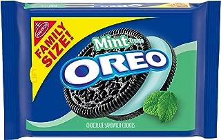 Oreo Chocolate Sandwich Cookies Family Size Mint Creme, 20 oz