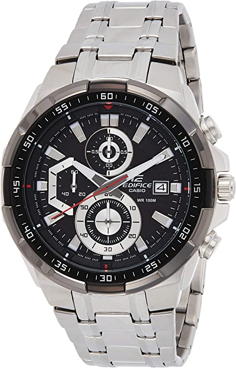 Orologio casio edifice orologio, robusta cassa, 10 bar, uomo con cinturino in acciaio inox EFR-539D-1AVUEF
